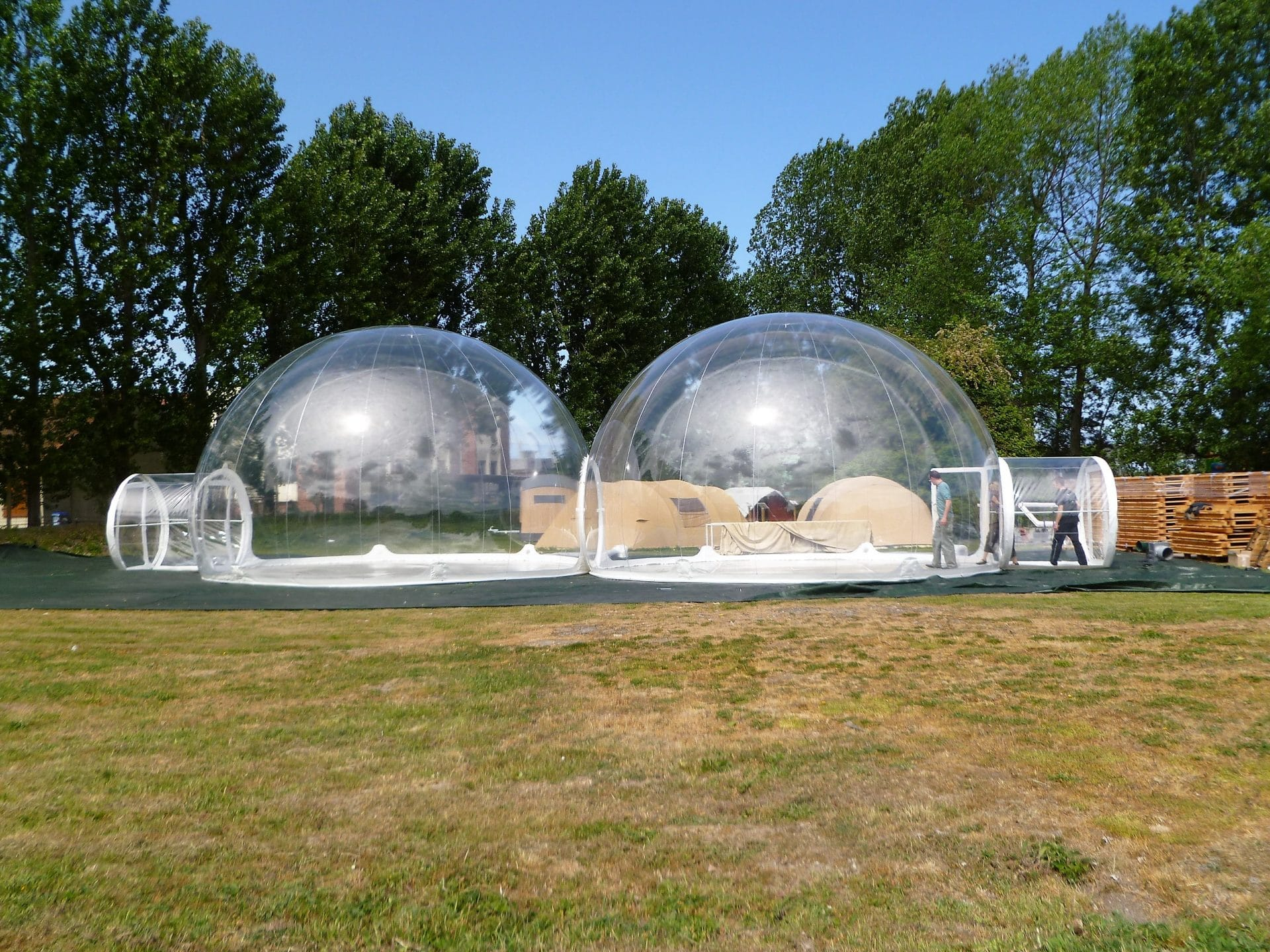 Bulles gonflables bulles camping