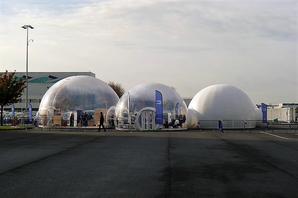 Bulles gonflables bulles triples peugeot