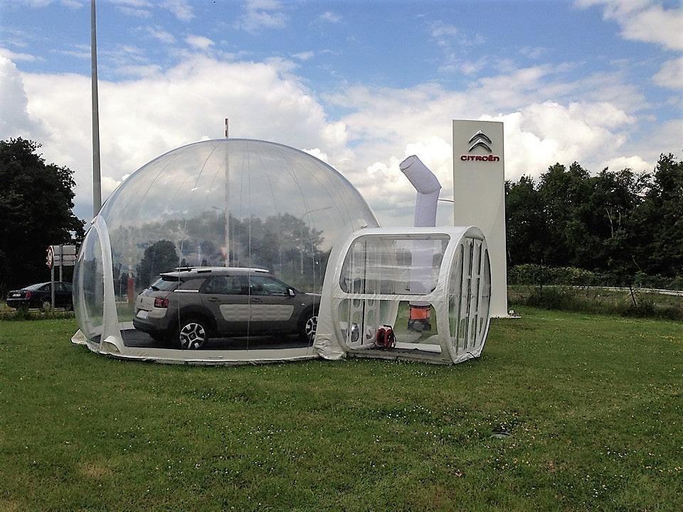 Vitribulles gonflables Citroën