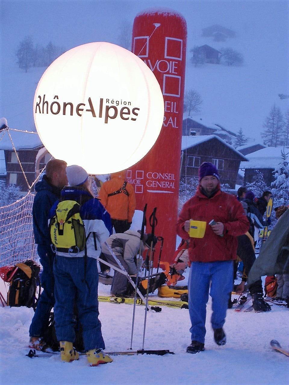 Bulles sur perches gonflables Région Rhône Alpes