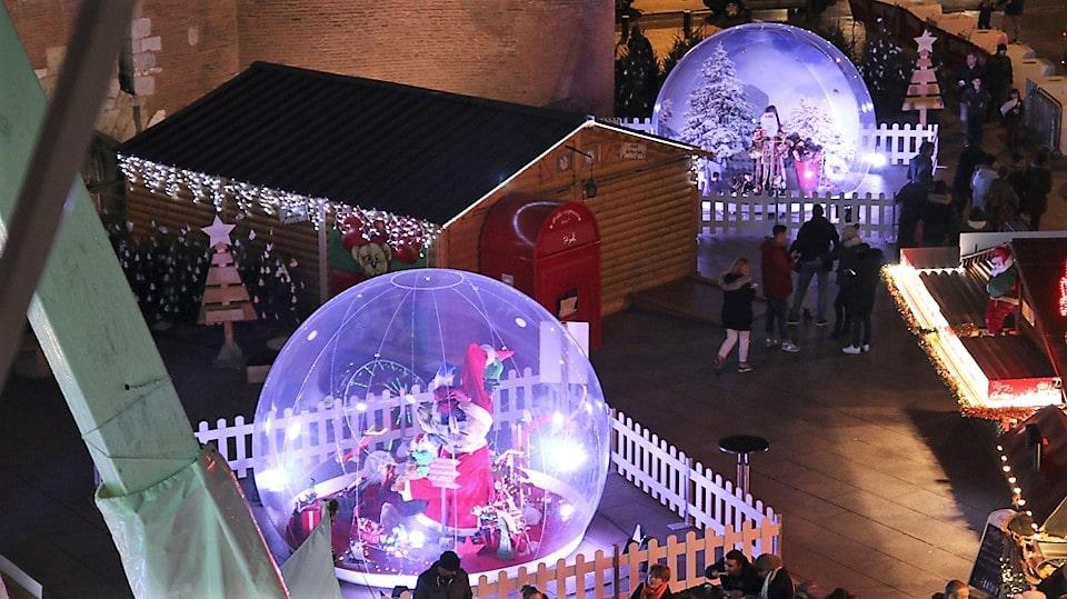 Vitribulles gonflables scènes de Noël